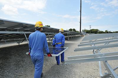 太陽光発電建設