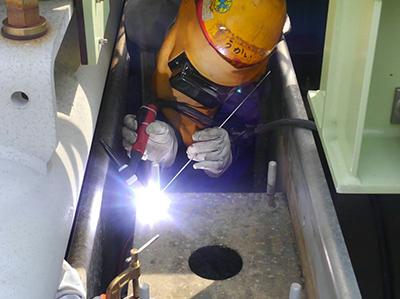 アルミニウム溶接取得資格(TN-2F/P、MN-2F/P)(気化器現地修理)