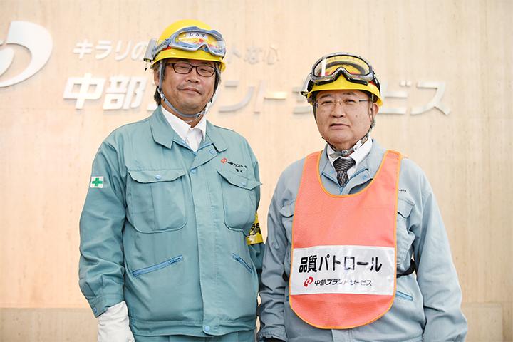 専門副部長の仲山さんとチーフリーダーの清水さん